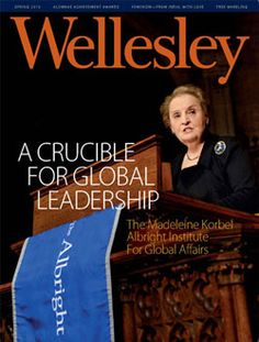 Cover of Wellesley Magazine Issue on Albright Institute