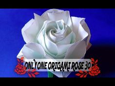 達人折りのバラの折り紙30 Only one origami rose30 - YouTube