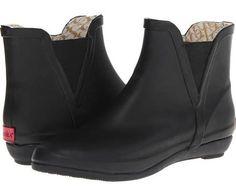 Chooka V-Gore Wedge Bootie Women's Boots Black