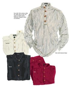 Wooden buttons. No collar. The classic look of J. Peterman. JP Shirt > Shirts | The J. Peterman Company