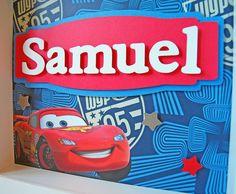 Disney Cars - Personalized Children's Decor - Boy's Room Art - Children's Room Decor - Kid's Paper Wall Art. $25.00, via Etsy.