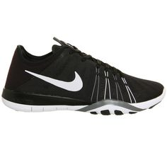 Nike Nike Free TR 6 ($88) ❤ liked on Polyvore featuring shoes, athletic shoes, black, print shoes, lightweight training shoes, star shoes, black and white shoes and lock shoes