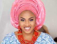 STEP BY STEP HOW TO TIE NIGERIAN YORUBA GELE TUTORIAL FOR BELLA NAIJA WE...