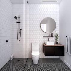 Modern Small Bathroom Design The Basic Components of Modern Bathroom Designs Modern Small Bathroom Design. Incorporating a modern bathroom design will give you a more … Ensuite Bathrooms, Laundry In Bathroom, Master Bathroom, Bathroom Small, Bathroom Black, Small Bathtub, Design Bathroom, Colorful Bathroom, Bathroom Modern