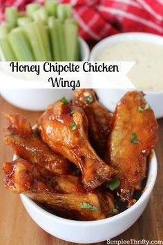 Here is an appetizer we are having on game day and wanted to share with you! Try these Baked Honey Chipolte Chicken Wings you won't be disappointed. Your guests will love them!