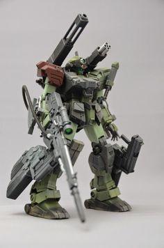 Green-gray robot warrior.