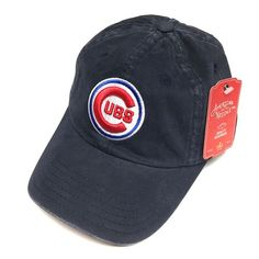 9f4e5ac807d American Needle MLB Chicago Cubs New Raglin Navy Vintage Adjustable Cap