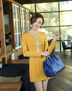 可愛い ニット 大人気商品 レディース 無地 ワンピース 全5カラー 可愛くて、優しくて落ち着いたカラーがとても上品なニットワンピース。胸元のファスナーデザインもワンポイント。そんな愛されディテールを詰め込んでいる一品が出来上がる。 http://www.cithy.jp/jinteng-cute-knitted-women-one-piece-dress-5colors-w09521124a.html