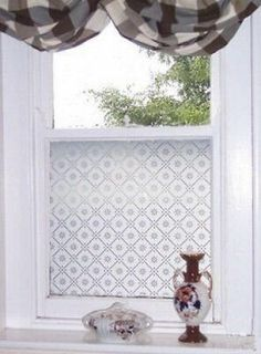Etched Glass Effect Frost Window Film Victorian Styles Traditional Window 50cm