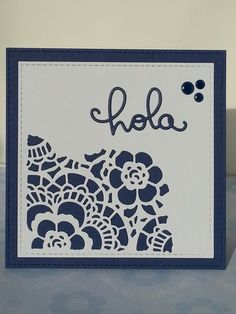 Postal. Card. Sant Jordi. Sizzix Thinlits 661185