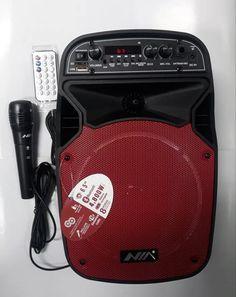 Parlante Cabina Recargable Profesional Nia An-2062a Bluetooth, Usb, Audio, Cabins