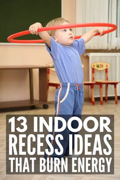 13 Indoor Recess Activities for Kids   If you're looking for fun classroom ideas to get your kids moving on snowy and rainy days, these brain break ideas will inspire you! Perfect for kids in preschool, kindergarten, elementary school, and middle school, we've included a mix of gross motor activities, learning stations ideas, team building games, and other classroom games and movement activities to keep your students engaged and help them blow off steam. #indoorrecess #brainbreaks