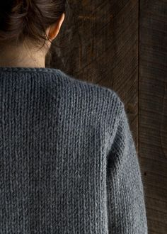 Ravelry: Classic Knit Jacket pattern by Purl Soho Knit Cardigan Pattern, Sweater Knitting Patterns, Jacket Pattern, Knitting Stitches, Knit Patterns, Free Knitting, Purl Soho, Christmas Knitting Patterns, How To Purl Knit