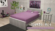 lounge act here are thirty recolors of the malm... : ♡ Malm Bed Frame, Sims 2, Lounge, Wood, Furniture, Home Decor, Ikea Malm Bed, Bed Frame, Airport Lounge