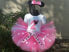pink minnie mouse tutu...this is too cute