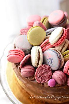 macaron cake  http://katucikonyha.blogspot.hu/2013/05/nutellas-csokoladetorta-egy-egesz.html