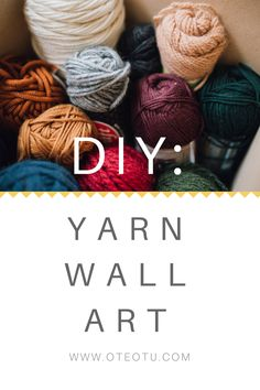 Diy yarn wall art yarn wall art wall art crafts and wall hangings diy yarn wall art solutioingenieria Images