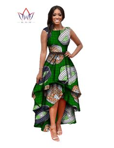 2016 Long Dessses Women Fashion Dress Maxi  Brand African Bazin Dresses for Women Dashiki Ankara Dresses Cascading RuffleWY447