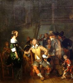 "KDS Photo, Scottish National Gallery, oil painting by Gerbrand van den Eeckhout, ""A Guardroom Interior"", 1657"