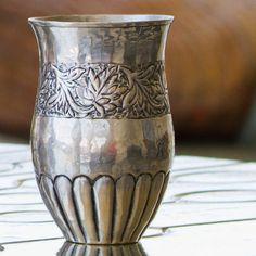 Amritsar Embossed Tumbler - Silver - Set of 4