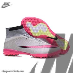 8d60276484142 Daily Nike Just Do It Elastico Superfly IV TF Gray Pink Black