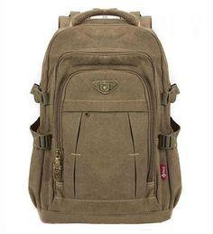 Canvas School Backpack Shoulder Bag Male