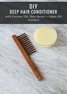 <B>HOME SPA SATURDAY:</B> DIY Deep Hair Conditioner with Coconut Oil, Shea Butter   Argan Oil