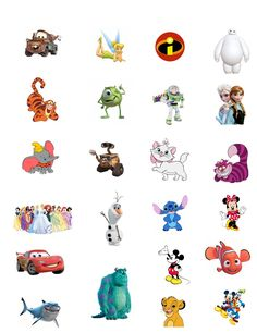 DIY Printable Disney Character Tattoos