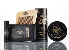 This beard grooming kit is ready to gift! Just choose your fragrance! Contains: 1.75 oz beard balm tin 1 oz beard oil 4 oz beard wash bar .15 oz peppermint lip balm boxwood beard comb 3 *currently out of immaculate beard lip balm, will be shipped with Super Manly Tough Guy Lip