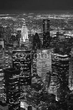 Fototapeta , Panel szklany , Fototapety , Plexi , nowy jork manhattan noc światła panorama, 35378665