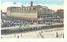 Old Atlantic Hotel, Ocean City MD 1910.  Where we stay. Wow! This is a really old picture of the Atlantic Hotel.