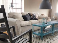 These coffee tables are amazing!!!  The colors ares so peaceful in this room:) Living Room Furniture - Sofas, Coffee Tables & Inspiration - IKEA