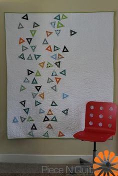 Confetti - A Modern Embroidery Applique Quilt - Moda Bake Shop- With free embroidery design to download!