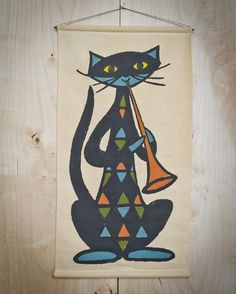 Rare Danish Modern Wall Hanging Tapestry Made in by awayvintage, $148.00