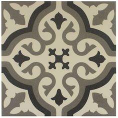 Suelo de baldosas de imitación de baldosas y paredes de cemento blanco de 20 x 20 cm - FL0115002