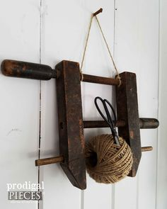 Side View of Repurposed Twine Holder