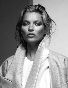 BLACK AND WHITE, FALL 2013, FASHION, KATE MOSS, SUPERMODEL, ZOO NO. 40