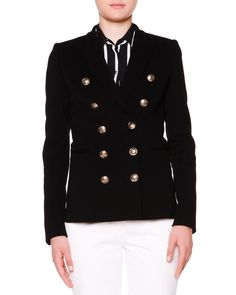Emilio Pucci Double-Breasted Golden Button Jacket