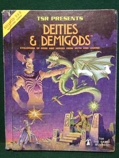 Dungeons & Dragons Deities & Demigods, Cyclopedia 1980 1st Edition Inc' CTHULHU