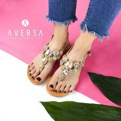 Platinum Sandal Crystal Jewel