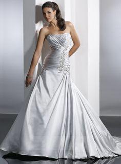 Strapless Wedding Dresses,Satin Wedding Dresses On Sale 05610