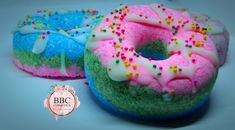 Donut bombs are drizzled with Shea butter for that extra special nourishing feeling Bath Bombs, Shea Butter, Donuts, Birthday Cake, Kids, Food, Frost Donuts, Young Children, Birthday Cakes