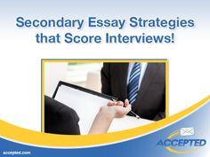 Secondary Essay Strategies that Score Interviews!