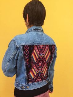 Our Etsy Shop is now open w/ items like this Maya Textile Jean Jacket...handmade in Guatemala using Fair Trade Practices. https://www.etsy.com/shop/ColeccionLunaVintage
