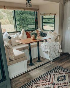 Travel Trailer Decor, Travel Trailer Remodel, How To Remodel A Camper, Camper Renovation, Camper Makeover, Camper Interior, Airstream, Remodeled Campers, Rv Homes