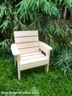 DIY Patio Chair | HowToSpecialist - How to Build, Step by Step DIY Plans