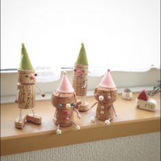 naturekamさんの、セリア,ハンドメイド,ビーズ,ワイヤー,コルク,フェルト,ワインコルク,シャンパンコルク,人形,小人,のお部屋写真