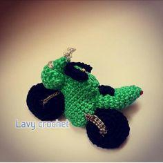 Motor bike amigurumi toy crochet plush