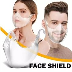 ✨Stay stylish with this minimalistic clear shield! ✨ New Radicals, Clear Face Mask, Breathing Mask, Nose Strips, Dry Well, Comfortable Fashion, Ear Loop, Face Masks, Unisex