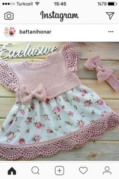Baby Knitting Patterns Skirt This post was discovered by Me Crochet Girls, Crochet Baby Clothes, Cute Crochet, Crochet For Kids, Hand Crochet, Knitting For Kids, Baby Knitting Patterns, Baby Patterns, Crochet Baby Dresses